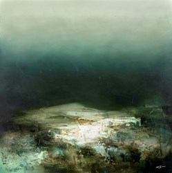 Dark Island by Neil Nelson -  sized 39x39 inches. Available from Whitewall Galleries